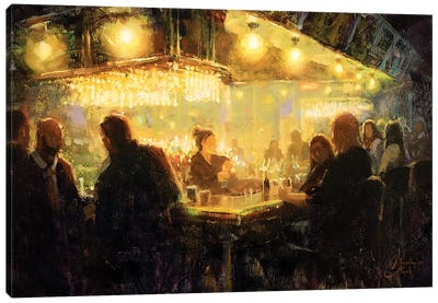 A Night Out With Friends Canvas Art Print