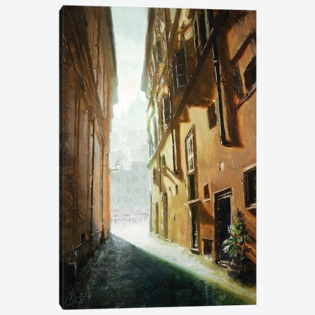 Rome Alleyway Canvas Print #CCK109} by Christopher Clark Art Print