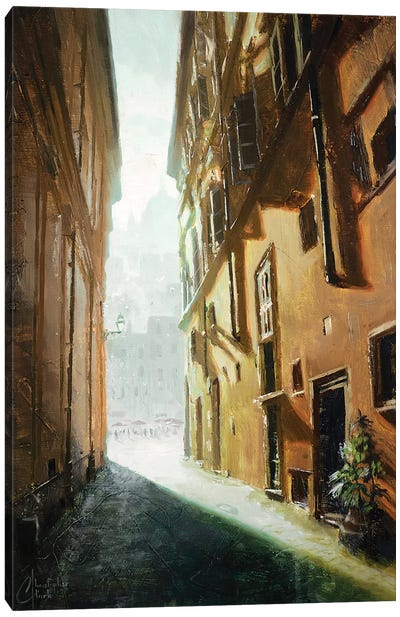 Rome Alleyway Canvas Art Print