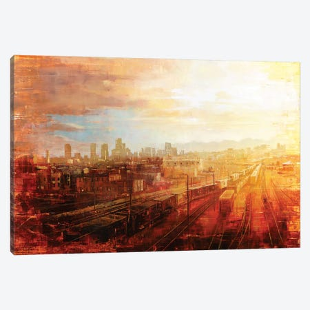Denver - Afternoon Over The Tracks Canvas Print #CCK10} by Christopher Clark Canvas Print