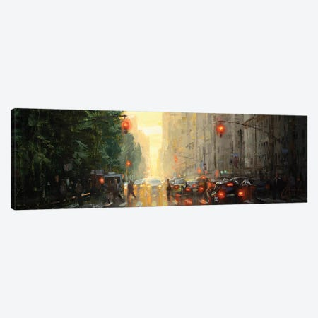 NYC - Along Central Park Canvas Print #CCK110} by Christopher Clark Canvas Artwork