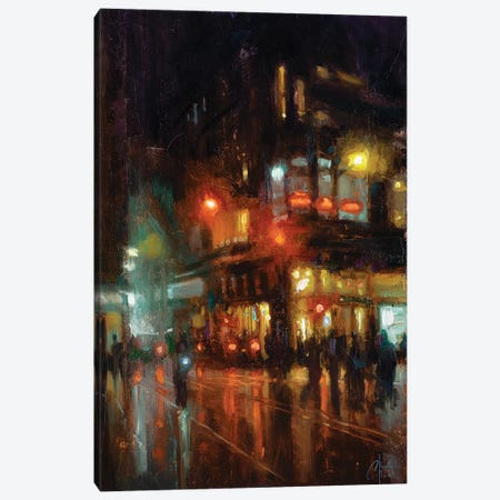 NYC - Bustling Corner Canvas Print #CCK111} by Christopher Clark Canvas Art