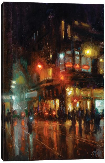 NYC - Bustling Corner Canvas Art Print