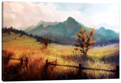 Flatiron Mountains Canvas Art Print