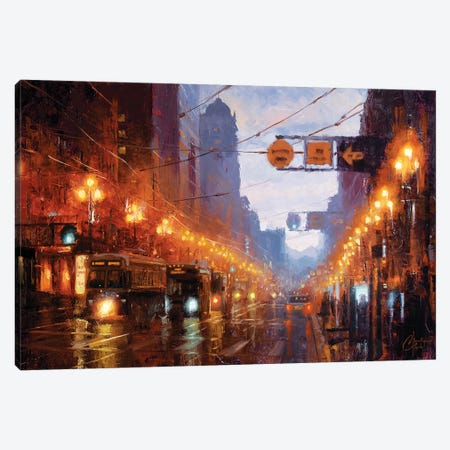 San Francisco At Dusk Canvas Print #CCK119} by Christopher Clark Canvas Art