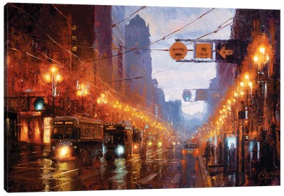 San Francisco At Dusk Canvas Art Print