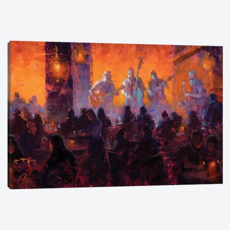 Crimson Room Jazz Canvas Print #CCK120} by Christopher Clark Canvas Art Print