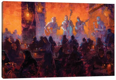 Crimson Room Jazz Canvas Art Print
