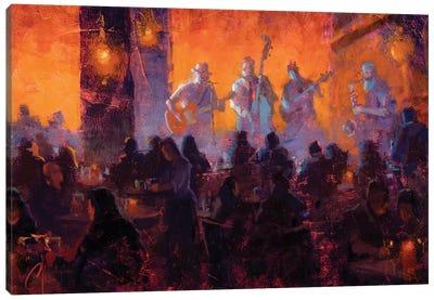 Crimson Room Jazz Canvas Art Print