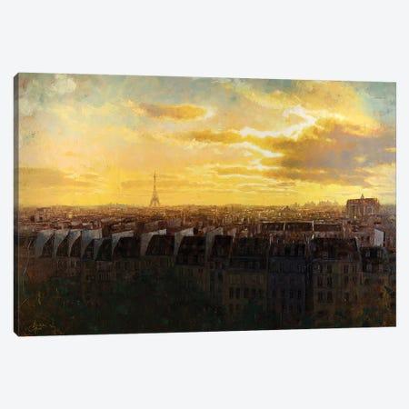 Paris Rooftops Canvas Print #CCK123} by Christopher Clark Canvas Print