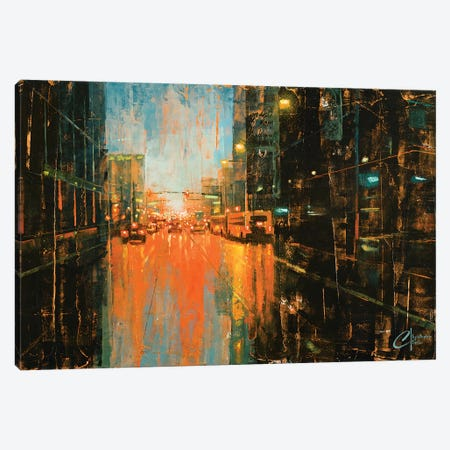 Denver - Broadway In The Rain II Canvas Print #CCK12} by Christopher Clark Canvas Print