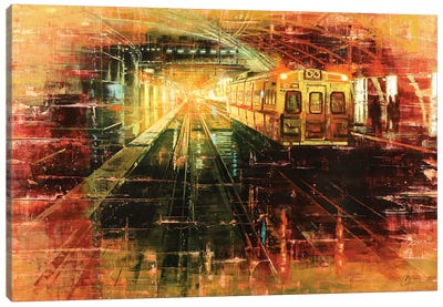 Denver - Tracks Of Union Station Canvas Art Print