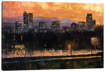 Denver Skyline From City Park III Canvas Art Print