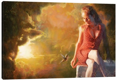 Edge Of Oblivion Canvas Art Print