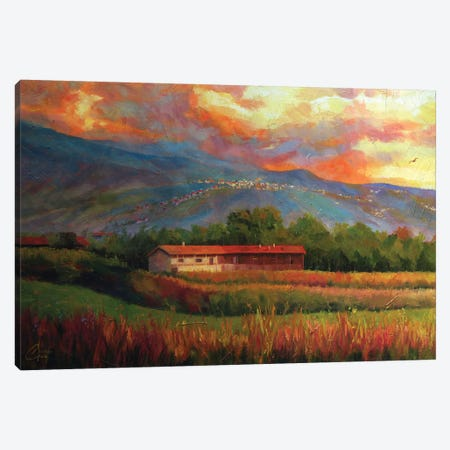 Fields Near Aosta, Italy Canvas Print #CCK17} by Christopher Clark Canvas Artwork