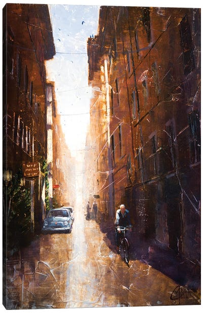 Alleyway In Rome Canvas Art Print