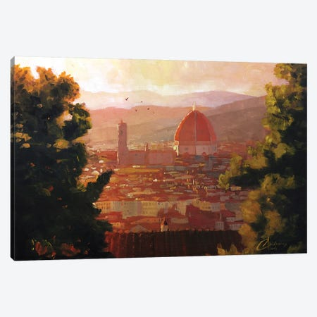 Florence, Italy - The Duomo From A Distance Canvas Print #CCK20} by Christopher Clark Canvas Art