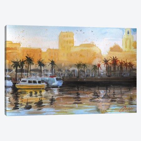 Genova, Italy - Porto Antico 3-Piece Canvas #CCK28} by Christopher Clark Canvas Artwork