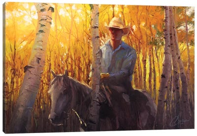 Aspen Cowboy Canvas Art Print
