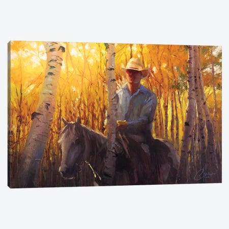 Aspen Cowboy Canvas Print #CCK2} by Christopher Clark Canvas Art Print