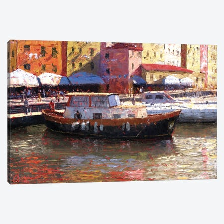 Genova, Italy, Porto Antico Canvas Print #CCK30} by Christopher Clark Art Print