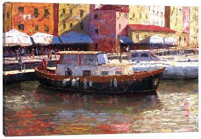 Genova, Italy, Porto Antico Canvas Art Print