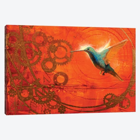 Hummingbird's Journey Canvas Print #CCK33} by Christopher Clark Art Print