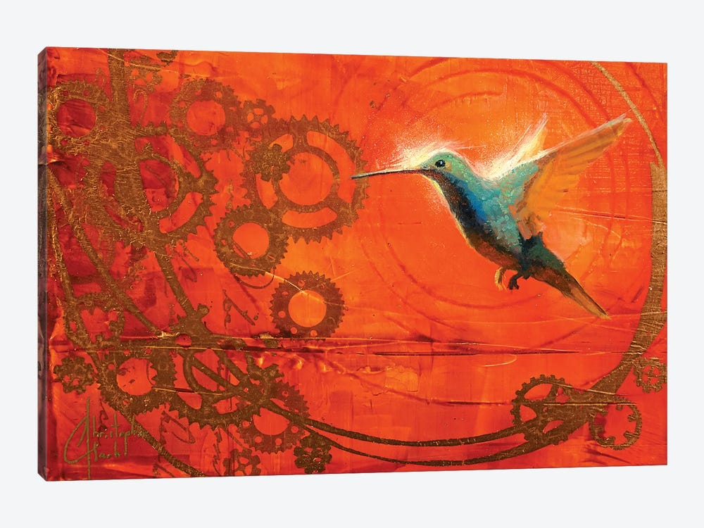 Hummingbird's Journey by Christopher Clark 1-piece Canvas Art