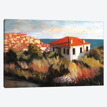 Imperia, Italy – Cottage By The Sea Canvas Print #CCK34} by Christopher Clark Canvas Art