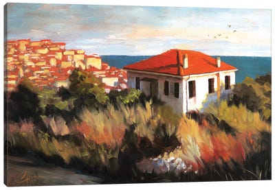 Imperia, Italy – Cottage By The Sea Canvas Art Print