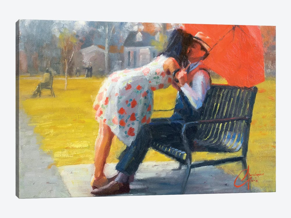 Kiss In Late Autumn by Christopher Clark 1-piece Canvas Art