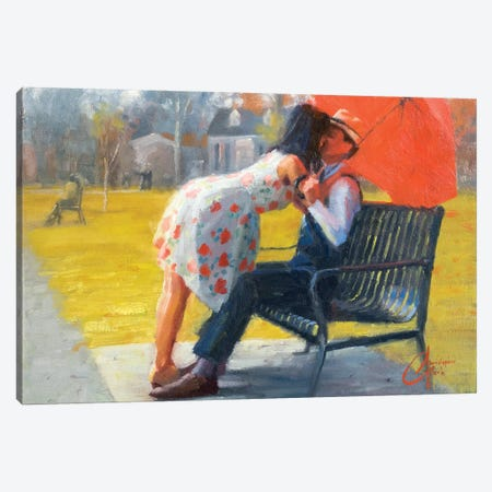 Kiss In Late Autumn Canvas Print #CCK37} by Christopher Clark Canvas Wall Art