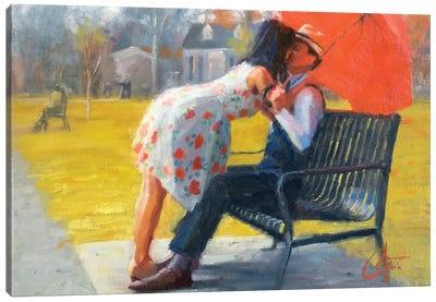 Kiss In Late Autumn Canvas Art Print