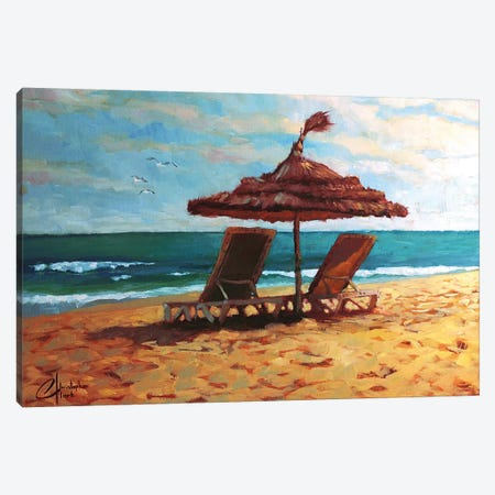 Beach Paradise Canvas Print #CCK3} by Christopher Clark Canvas Art Print