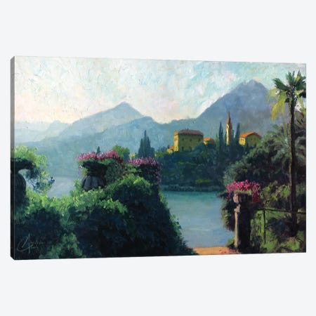 Lake Como, Italy Canvas Print #CCK41} by Christopher Clark Canvas Artwork