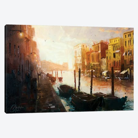 Life In Venice, Italy Canvas Print #CCK44} by Christopher Clark Canvas Art Print