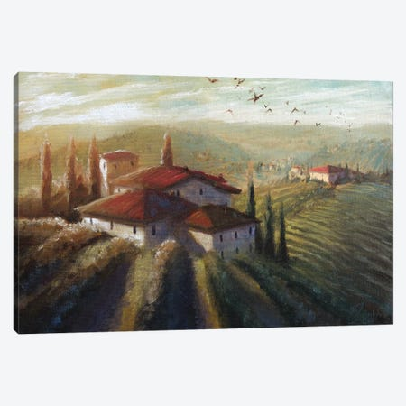 Lifestyle Of Tuscany I Canvas Print #CCK45} by Christopher Clark Canvas Art Print