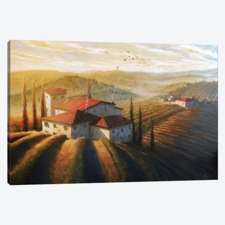 Lifestyle Of Tuscany II 3-Piece Canvas #CCK46} by Christopher Clark Canvas Art Print