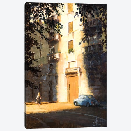 Milan In The Shadows Canvas Print #CCK48} by Christopher Clark Canvas Wall Art