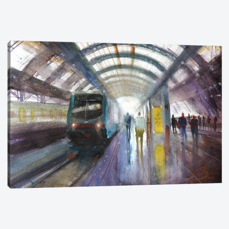 Milan, Italy - Central Train Station, Milano Centrale Canvas Print #CCK49} by Christopher Clark Canvas Wall Art