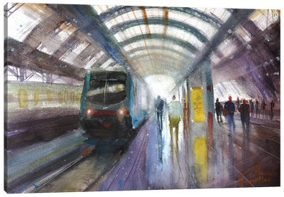 Milan, Italy - Central Train Station, Milano Centrale Canvas Art Print