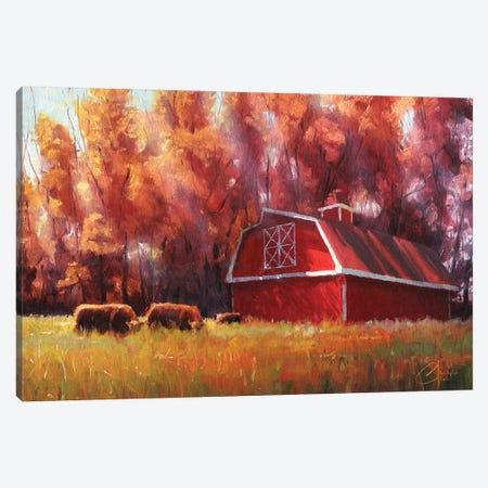 Big Red Barn In Arvada, Colorado Canvas Print #CCK4} by Christopher Clark Canvas Art