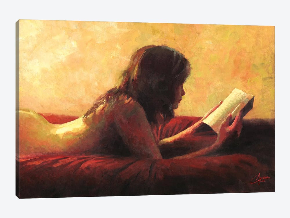 Reading In Bed by Christopher Clark 1-piece Art Print