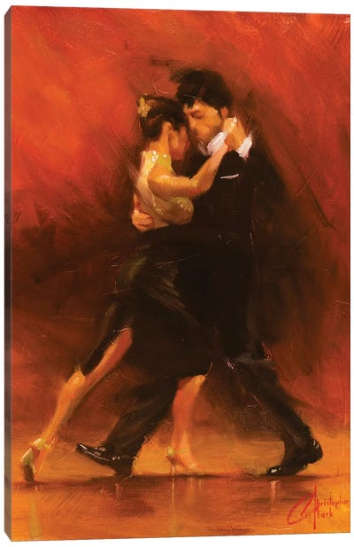 Red Tango II Canvas Art Print