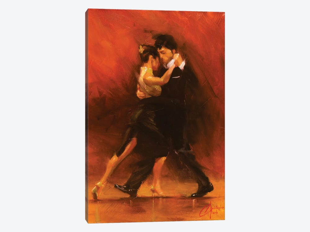 Red Tango Ii Canvas Wall Art By Christopher Clark Icanvas