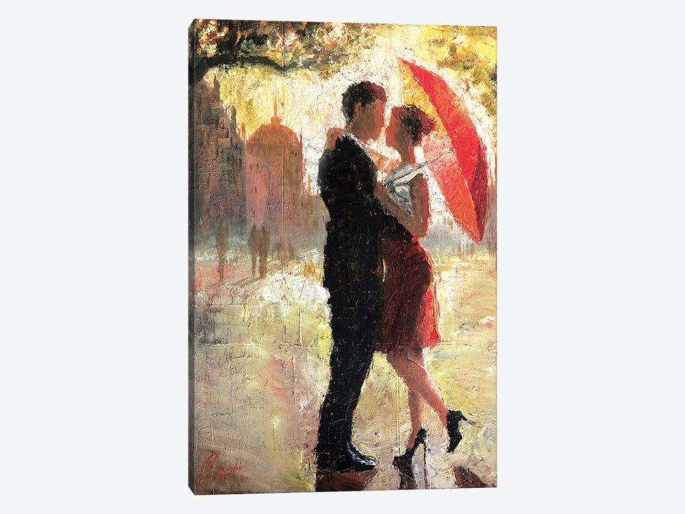 Red Umbrella Romance I by Christopher Clark 1-piece Canvas Art