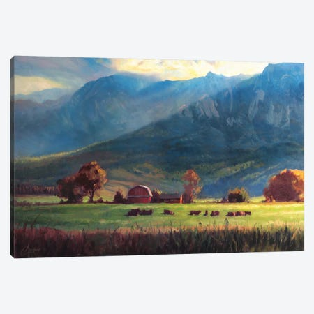 Rocky Mountain Farm Canvas Print #CCK59} by Christopher Clark Canvas Print