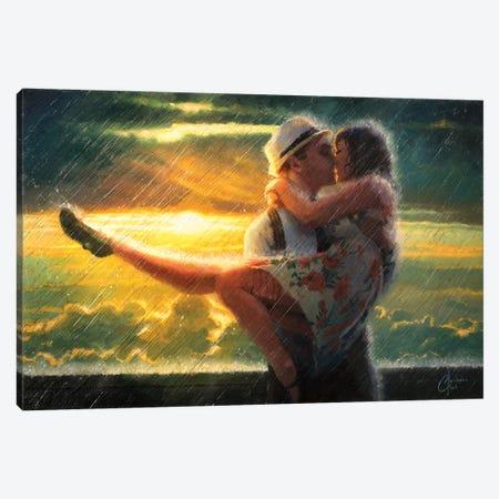 Romance In The Rain Canvas Print #CCK60} by Christopher Clark Canvas Art