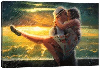 Romance In The Rain Canvas Art Print