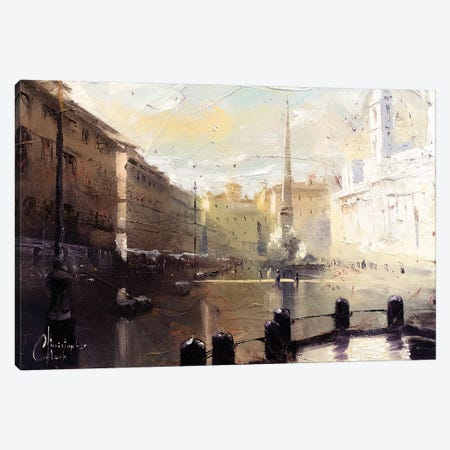 Rome - Piazza Navona At Dawn Study Canvas Print #CCK61} by Christopher Clark Canvas Art